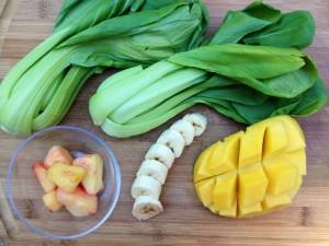 Mango & Baby Bok Choy Smoothie